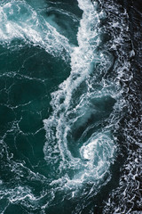Whirlpool in the sea, Saltstraumen, Bodö, Norway, October 2008