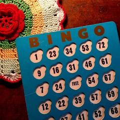 Retro blue Bingo card