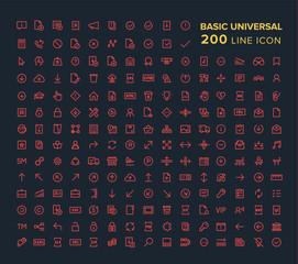 Basic Universal Line icon set