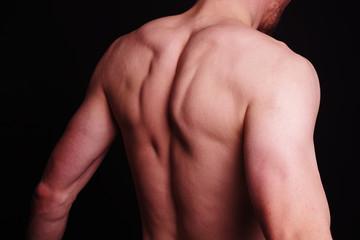muskulöser Rücken eines Mannes