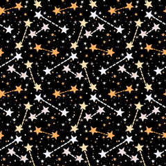 Vector pattern with stars