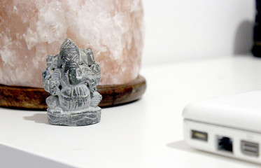 Ganesha and Salt Lamp