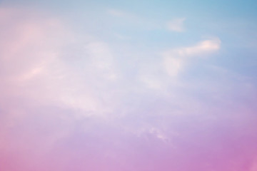 A soft sky with a pastel color background,Gradient color tone with sky.