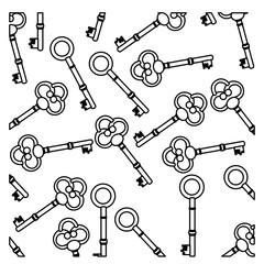 figure old keys icon stock, vector illustration image design