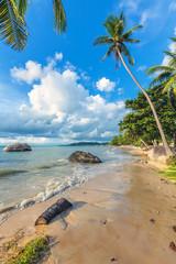 Tropical beach on Koh Samui in Thailand.