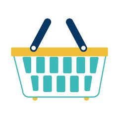 basket shopping commercial icon vector illustration design