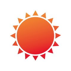 summer sun emblem isolated icon vector illustration design