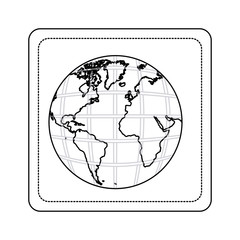contour map of the planet earth picture icon, vector illustration design