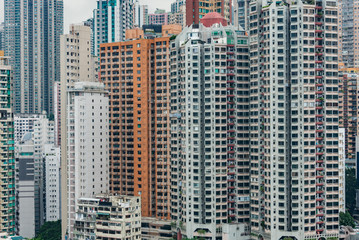 Hong Kong apartment block in China.