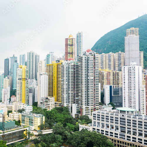 "Hong Kong Apartments: ""Hong Kong Apartment Block In China."" Stock Photo And"