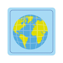 color map of the planet earth picture icon, vector illustration design