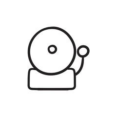 Fire alarm sketch icon.