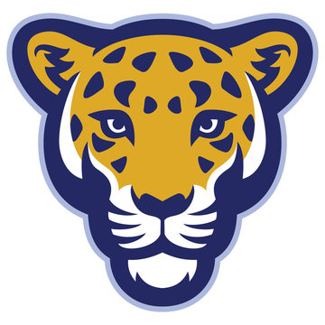 Leopard head mascot