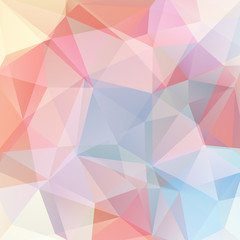 Abstract geometric style pastel background. Vector illustration. Pink, blue yellow, white colors.