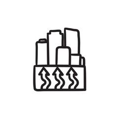 Factory sketch icon.