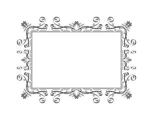 Elegant retro floral frame.