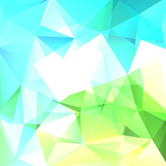 Abstract geometric style blue, green, white background. Business background Vector illustration