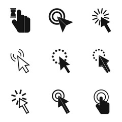 Cursor icons set, simple style