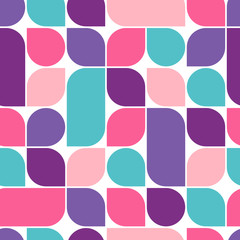 Abstract retro geometric seamless pattern. Vector Illustration.
