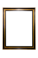 Wooden frame isolated.