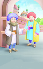 Mullah talking with a man