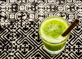 vegetable smoothie in glass