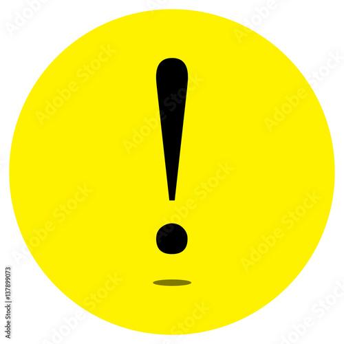 exclamation mark icons on yellow background fichier vectoriel libre de droits sur la banque d. Black Bedroom Furniture Sets. Home Design Ideas