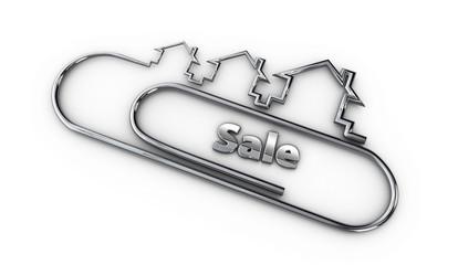 silver 3d modern design logo with sale word 3d illustration
