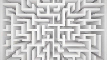 3d rendering maze in top view