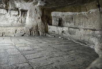 Prison in dungeon on Via Dolorosa, where was prisoner Barabbas