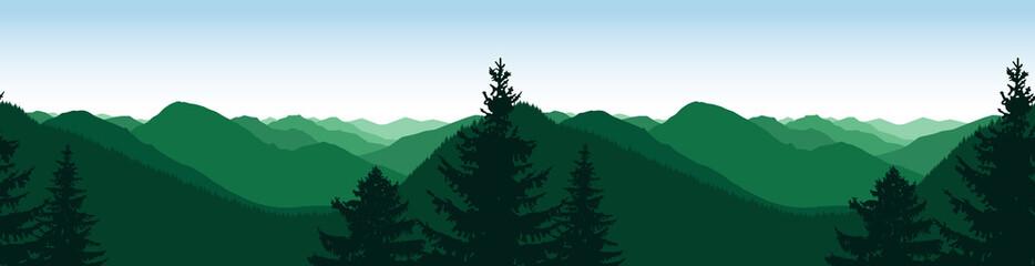 Panorama of mountains. Natural tones. Seamless rocks.