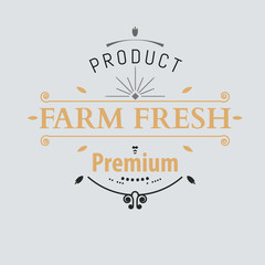 The emblem of quality products. Logo for natural premium products. Vector signs for farmers. organic and natural badges and labels