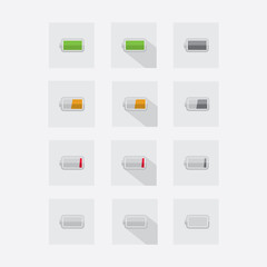 set battery level icon