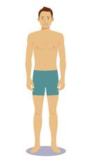 Digital vector illustration man pose standing