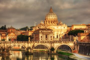 Fond de hotte en verre imprimé Rome view at St. Peter's Basilica in Rome, Italy