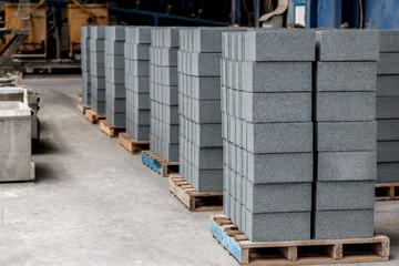 Concrete blocks before loading