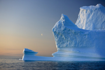 Iceberg, Disko Bay, Greenland, August 2009.