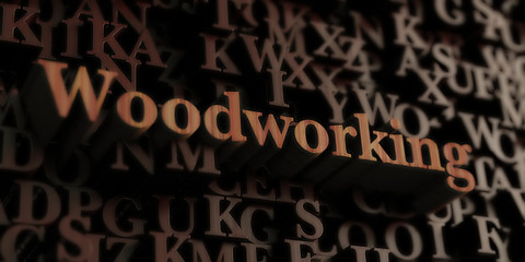 Woodworking - Wooden 3D rendered letters/message.  Can be used for an online banner ad or a print postcard.
