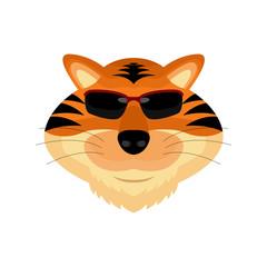 Tiger Head Cartoon Vector and Icon