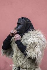 Ottana, Sardinia - Parade of traditional masks of Sardinia at the Carnival 2017