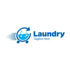 Laundry and cleaning logo design template