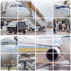 montage de photos d'avion à réaction