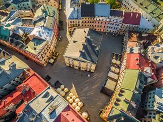 Lublin - stare miasto. Trybunał koronny z lotu ptaka.