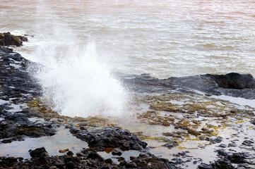 Famous Spouting Horn blowhole of the Kauai