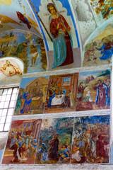 Wandmalerei im Alexander-Svirsky Kloster, Staraya Sloboda in Russland.