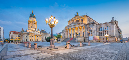 Berlin Gendarmenmarkt square in twilight, Germany
