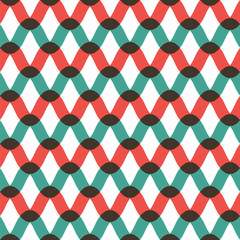 Seamless wave pattern in retro style