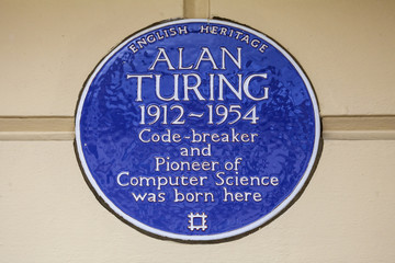 Alan Turing Blue Plaque in London.