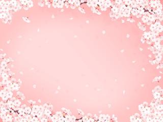 さくら花びらピンクフレーム