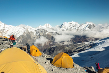 High Altitude Camp of Mountain Expedition